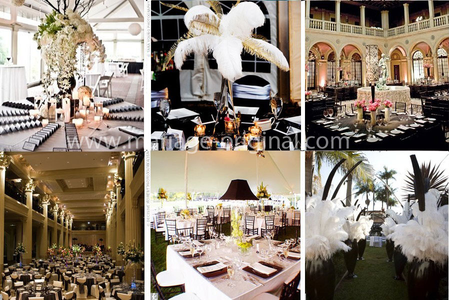 Un mariage so chic en noir et blanc lovely day Decoration noir or luxe classe