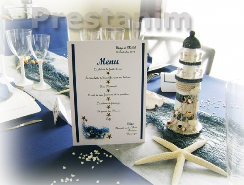 Un mariage en bleu marine lovely day - Deco table mer ...