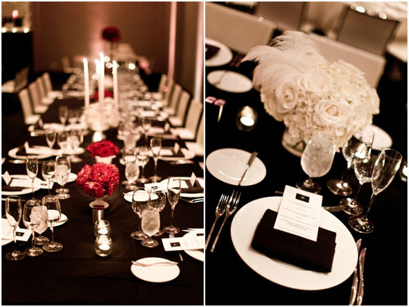 un mariage so chic en noir et blanc lovely day. Black Bedroom Furniture Sets. Home Design Ideas