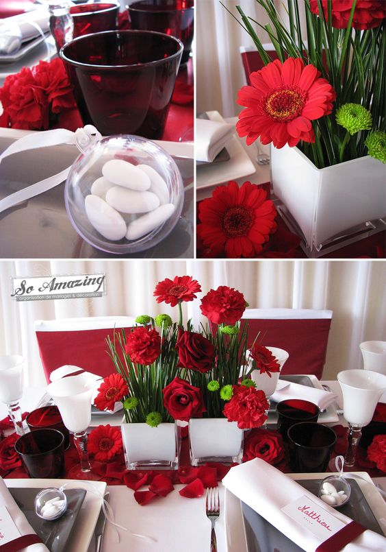 Th me mariage archives lovely day - Decoration table anniversaire rouge et noir ...
