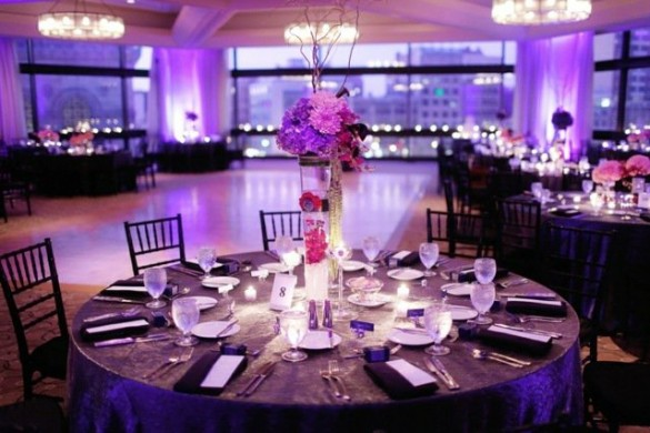 mariage-rose-violet-table
